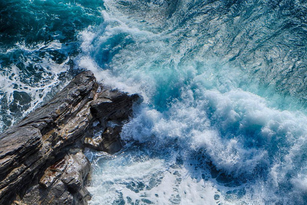 Sea rocky shoreline